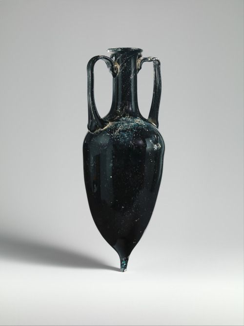 "animus-inviolabilis:  "" Glass amphora  Roman  1st half of 1st Century A.D., Early Imperial, Julio-Claudian  """
