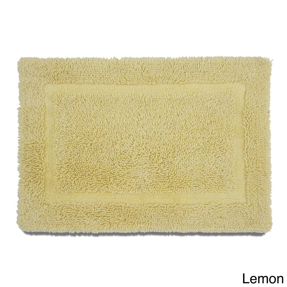 Soft Cotton Yellow Ring Spun Bath Rug With Non Skid Latex Backing 20