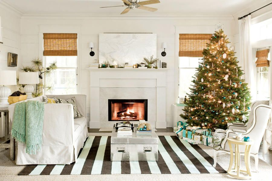 Christmas Staycation Living rooms, Room and Decorating