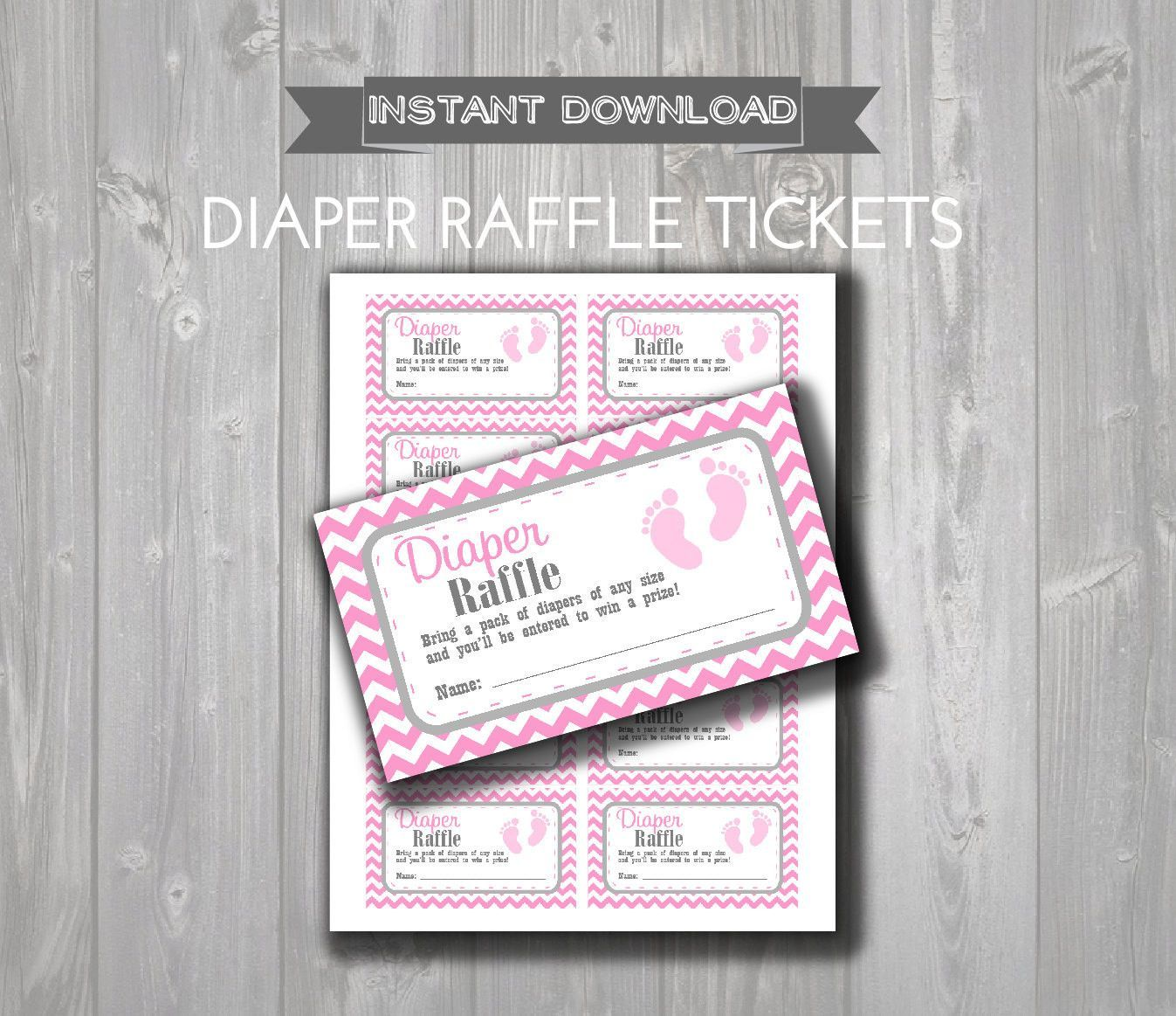 diaper raffle tickets printable baby shower raffle tickets diaper raffle tickets printable baby shower raffle tickets grey pink baby