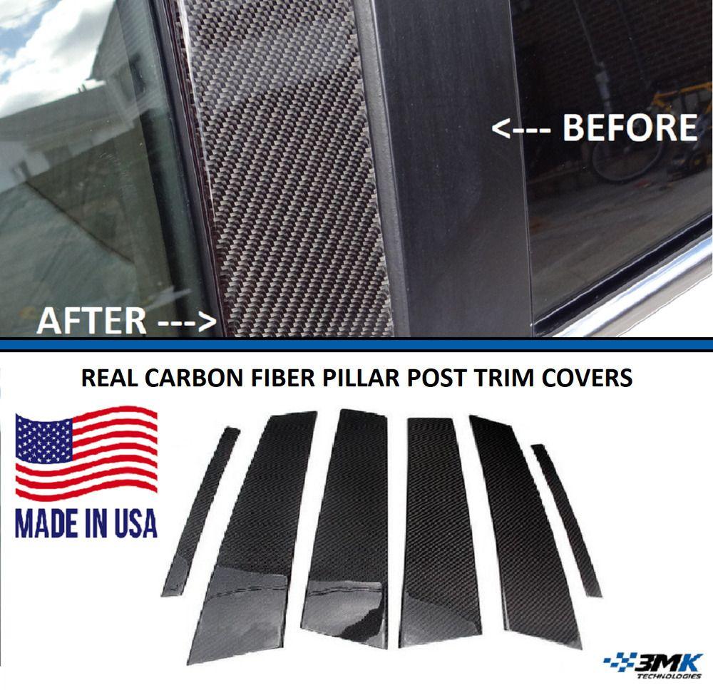 Real Carbon Fiber Pillar Posts Trims Covers for Toyota FJ