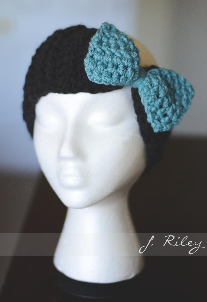 Crochet headband ear warmer with bow. Inspiration image | headband ...