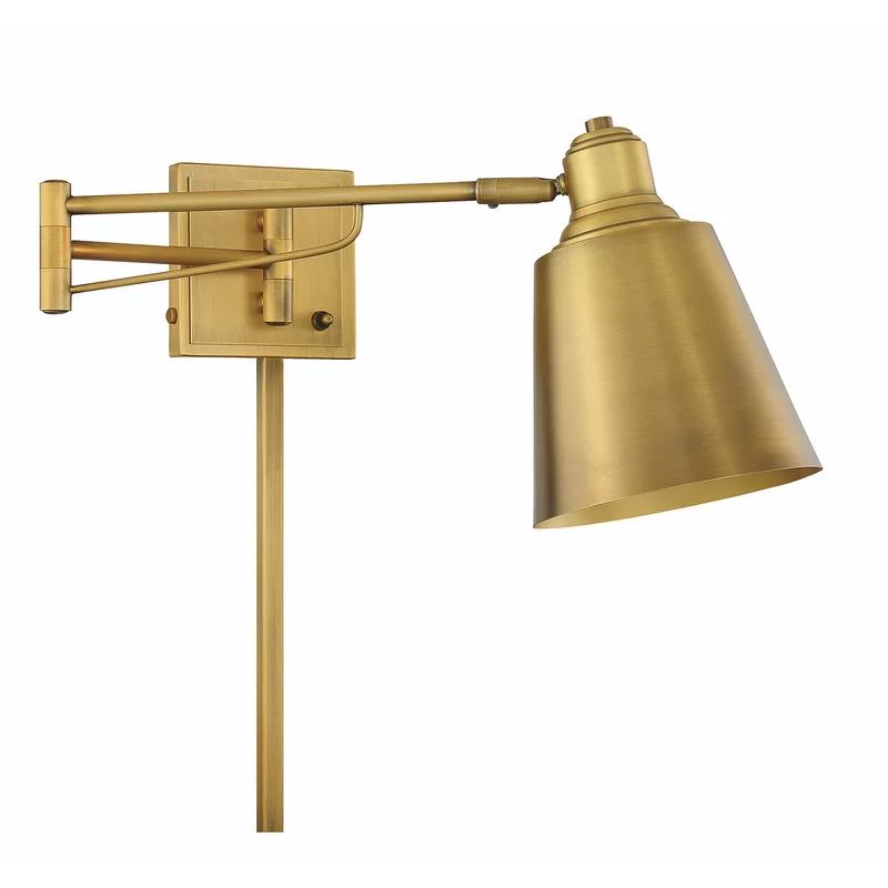 Lingle 1 Light Plug In Swing Arm In 2020 Swing Arm Lamp Swing Arm Wall Lamps Light
