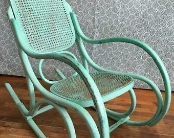 Antique Bent Wood Wicker Rocking Chairs Chairs Recliners