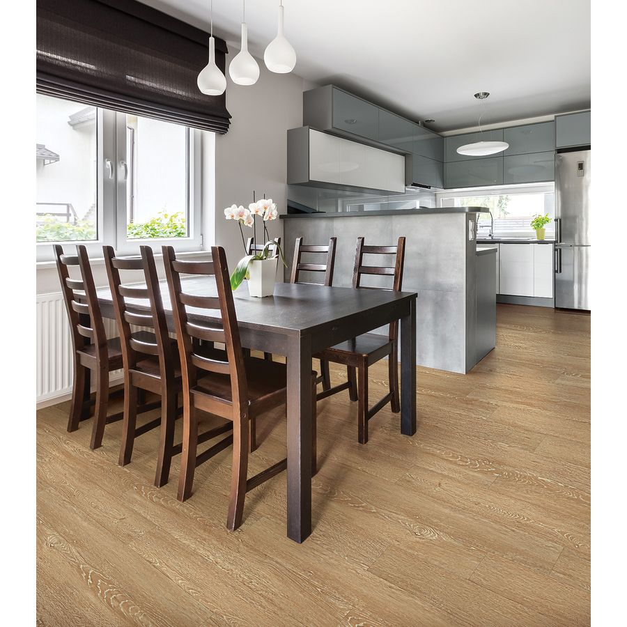 House Tawny Oak Lowes LVP Luxury Vinyl PlankVinyl FlooringLowesDining TableCommercialDining