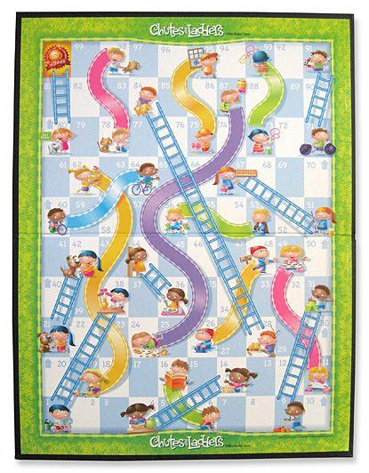 Este es un juego sencillo que requiere suerte me encanta for Chutes and ladders board game template