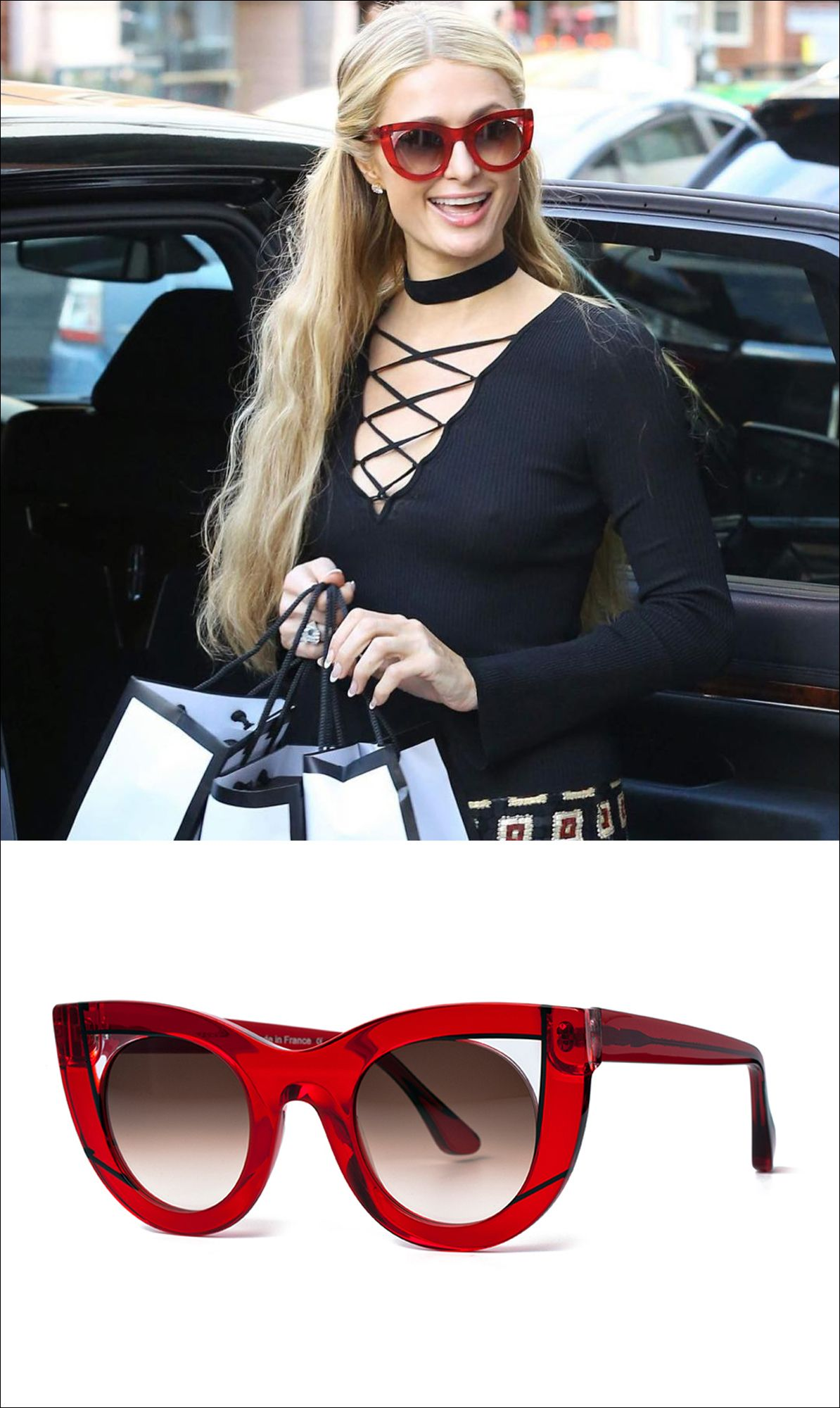 e0bd7c310f The Thierry Lasry Wavvvy offers a a bold soft cat eye shape for women and  is available in 3 colors. Paris Hilton ...