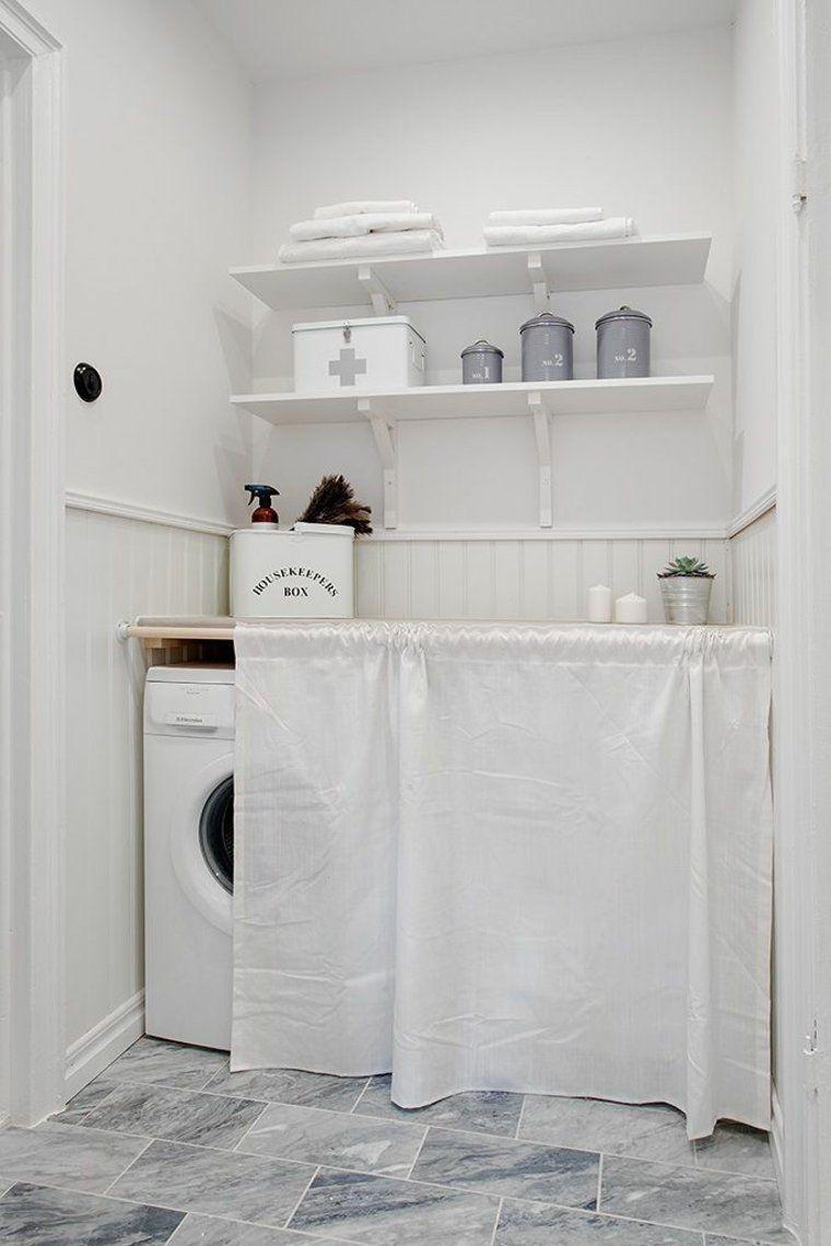 Rideau Cache Machine A Laver Deco Blanc Buanderies Images Waschkuchendesign Badezimmer Wasche Waschkuchenorganisation