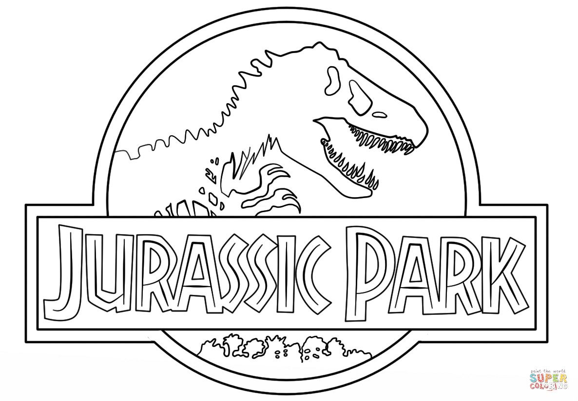 Jurassic World Coloring Pages Luxury Jurassic Park Logo Coloring Page Jurassic Park Logo Jurassic Park Dinosaur Coloring Pages