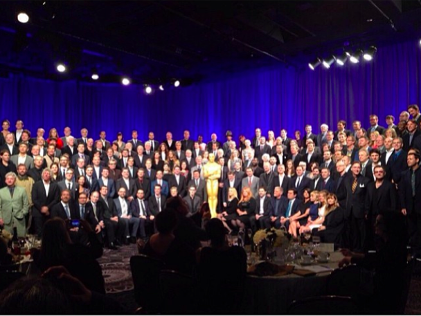full Oscar nominee class photo, courtesy of Jared Leto