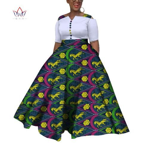Image of 2019 African Dresses For Women  Dashiki  African Dresses For  Women Colorful Daily Wedding Size S-6XL  Ankle-Length Dress WY3853 #africandressstyles