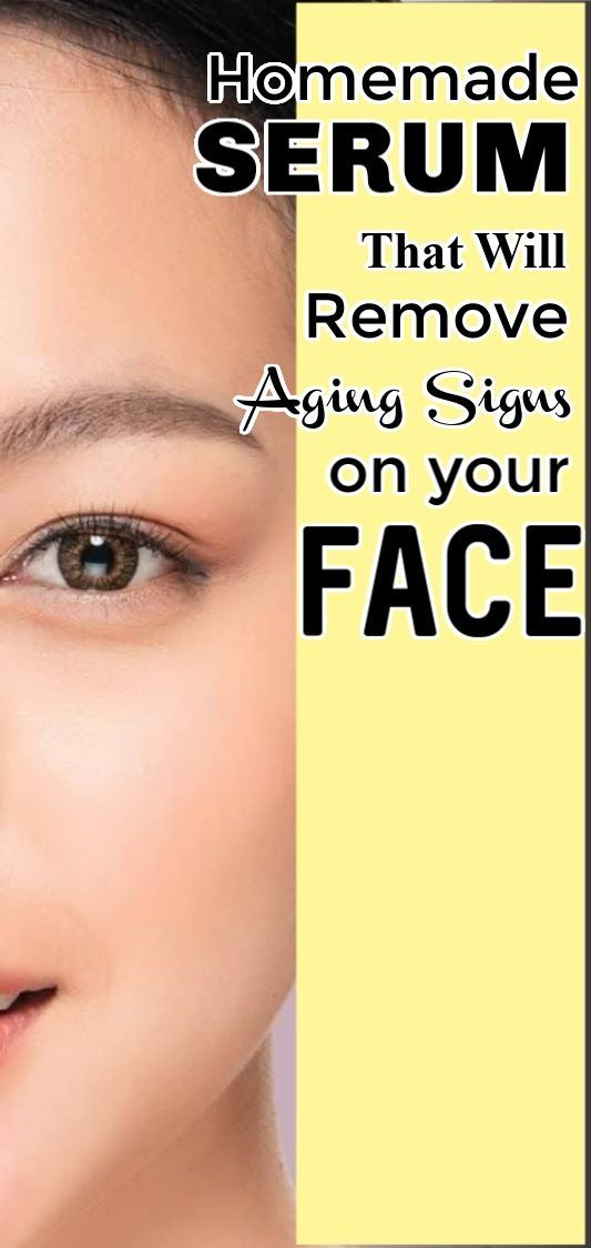 Homemade serum to get rid of aging signs #faceserum