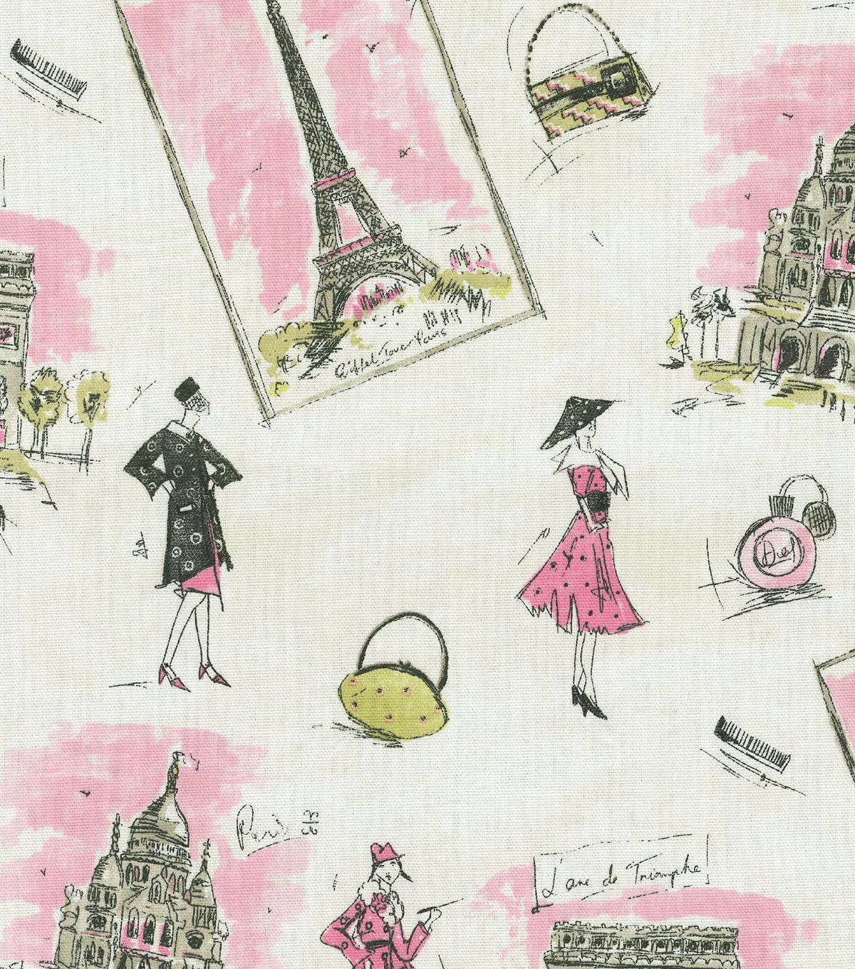 Genial Waverly Upholstery Fabric   Tres Chic Black Pink   Home Decor Fabric   Decor  Fabric   Upholstery Fab