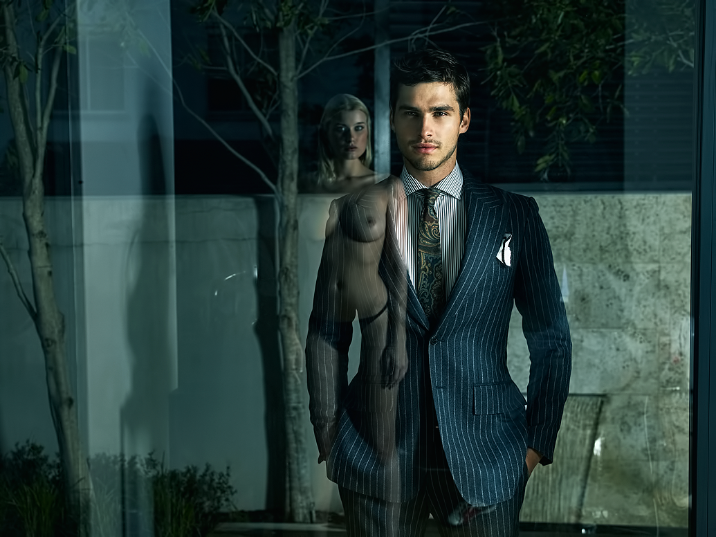 Especial. Interesting Topless women men in suits rare