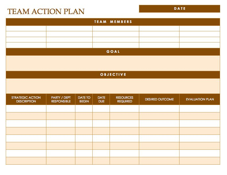 Action Plan Template - Free Action Plan Templates Smartsheet By