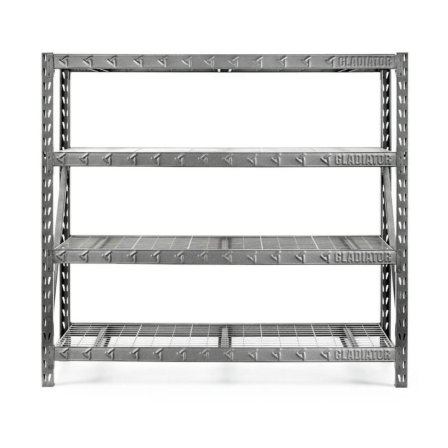 Lowes Gladiator 77″ 4-Shelf Welded Steel Rack