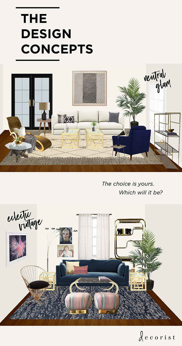 Design Living Room Virtual Country Chic Furniture Decorist Designoff With House Of Hipsters And Jojotastic Interior Makeover Eclectic Vintage Neutral Glam