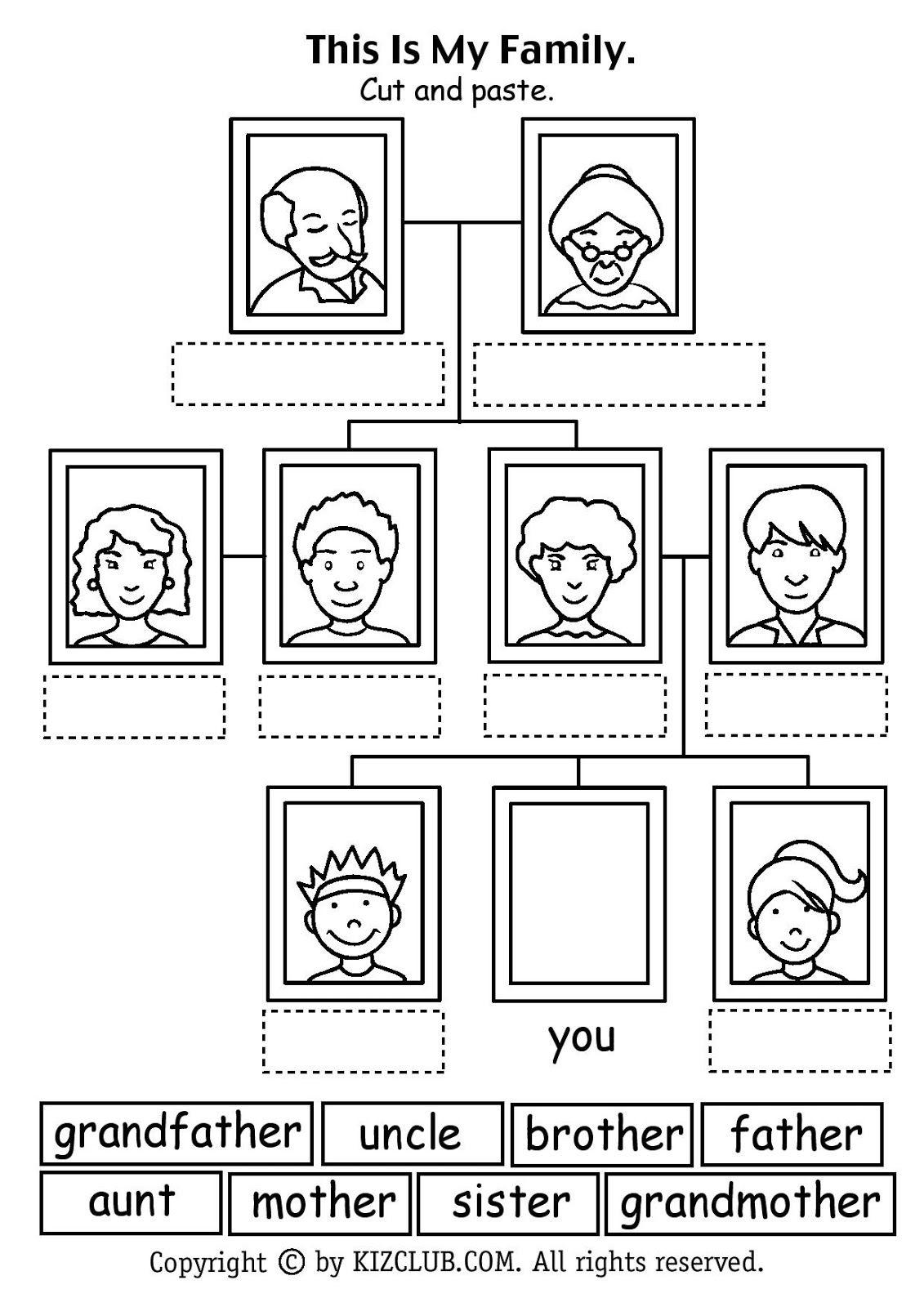 Miembros Familia Ingles Para Preescolar Ingles Basico Para