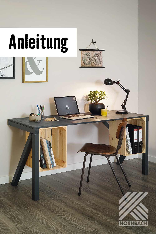 Schreibtisch mit Aufbewahrung DIY