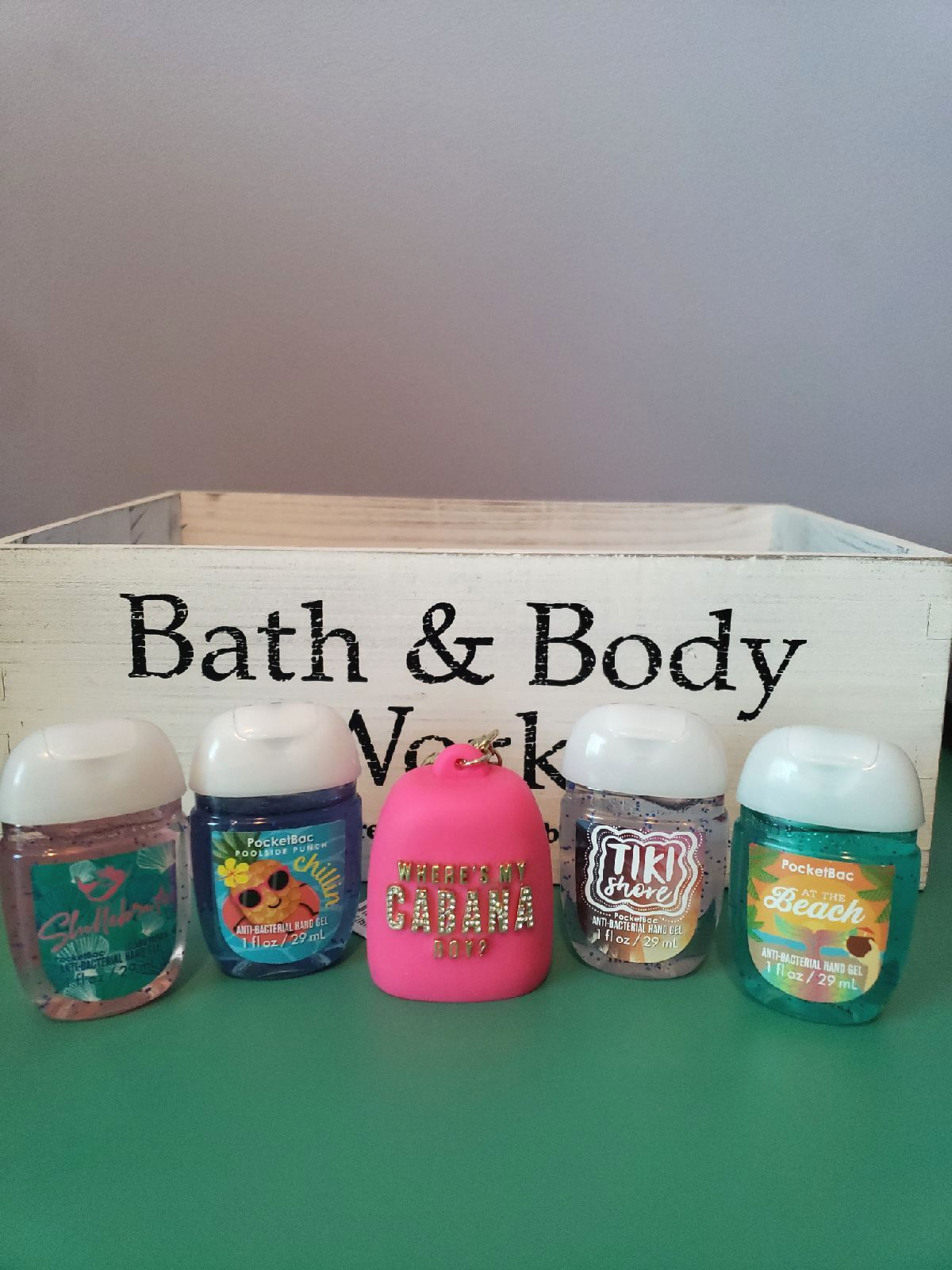 Bath And Body Works 5 Piece Pocketbac Set Includes Pink Bling