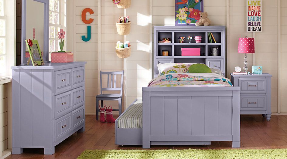 Cottage Colors Lavender 5 Pc Twin Bookcase Bedroom From Furniture Twin Bedroom Sets Girls Bedroom Sets Bedroom Furniture Stores