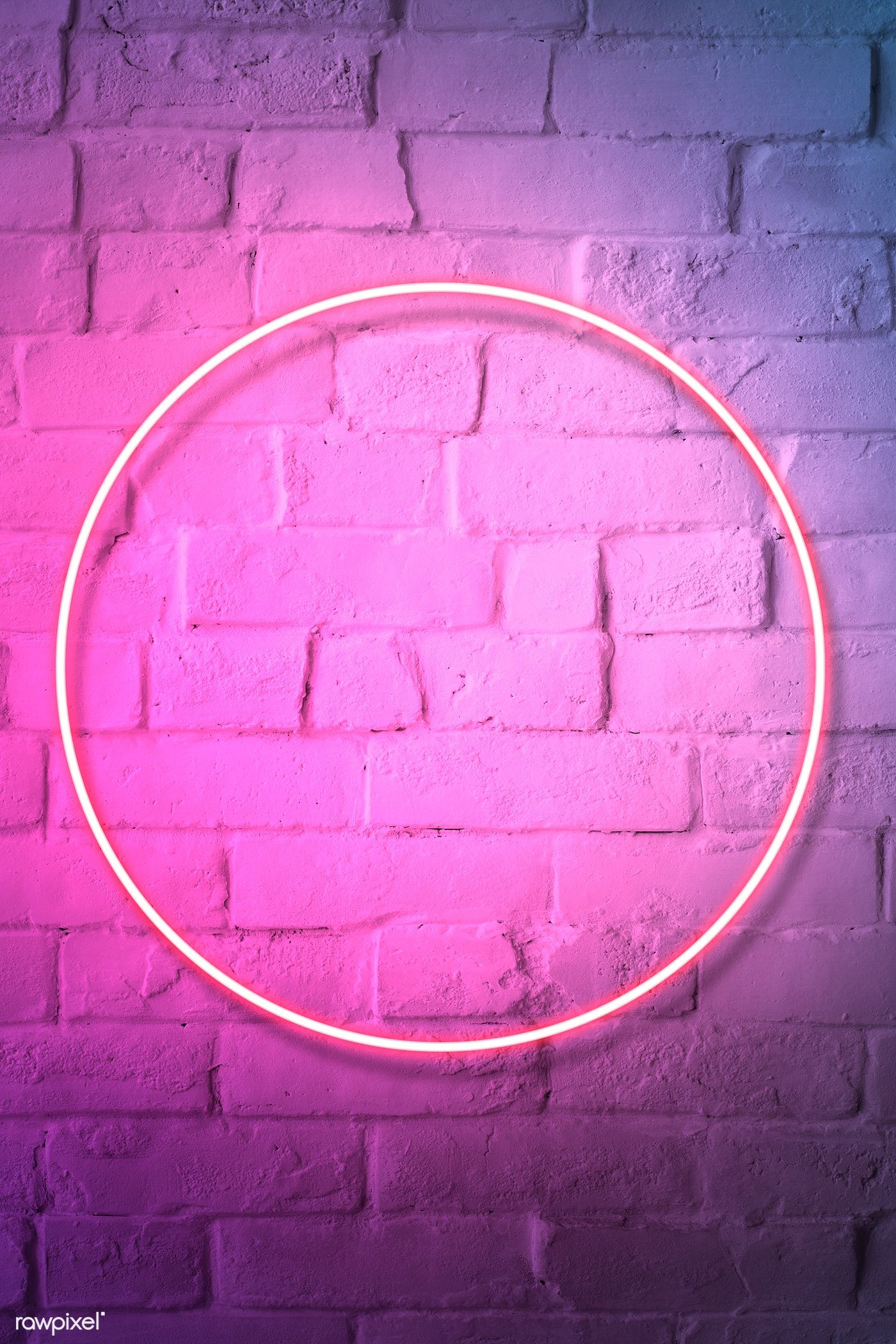 Download premium illustration of Pink neon lights frame on