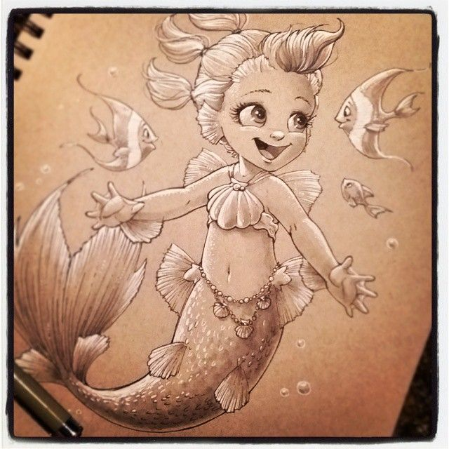 Baby Mermaid Baby Meerjungfrau Kunstproduktion Meerjungfrau