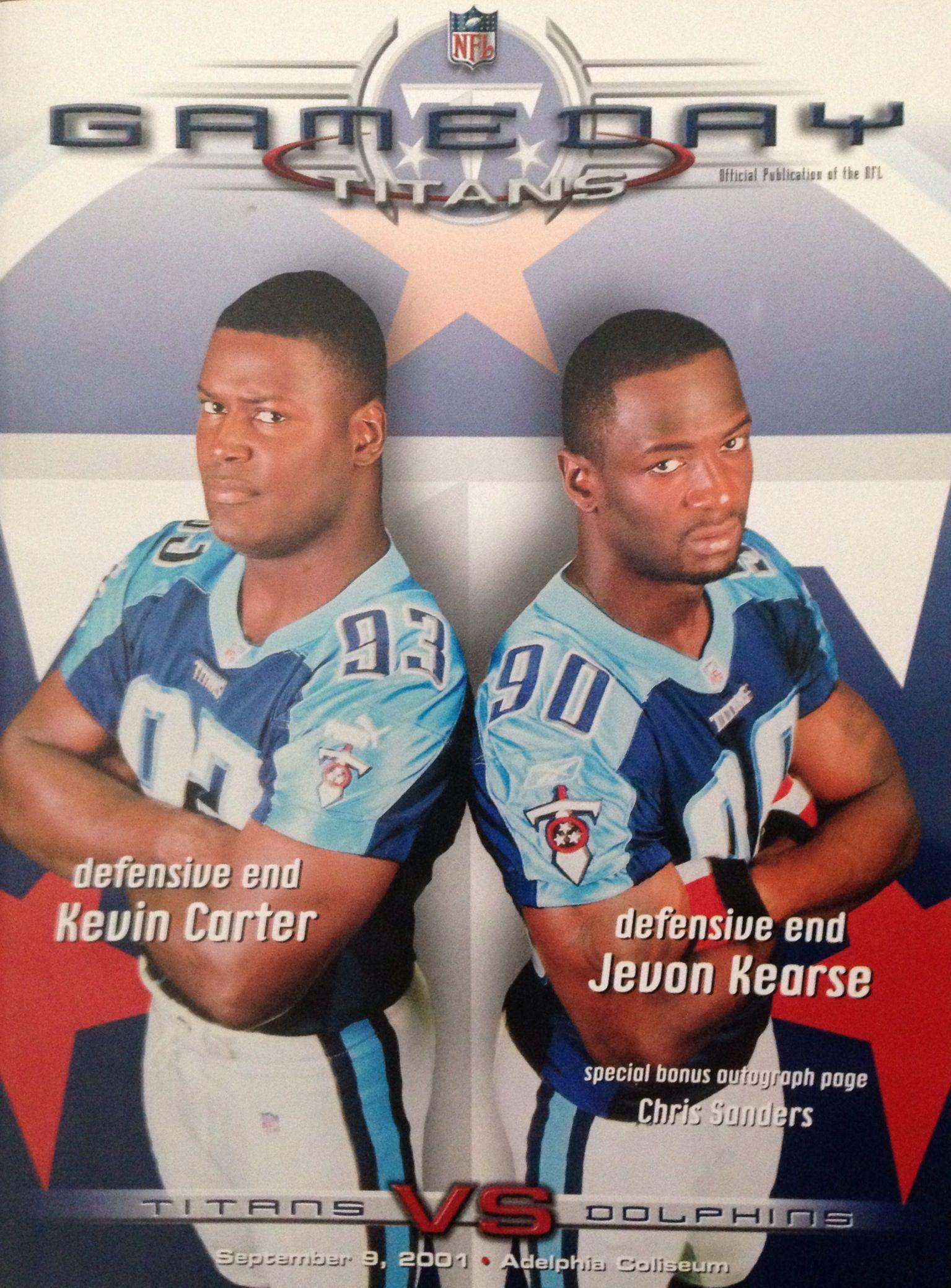 Game Program from Dolphins @ Titans September 9, 2001