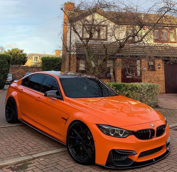 Bmw F80 M3 Orange Bmw Bmw 1er Bmw Autos