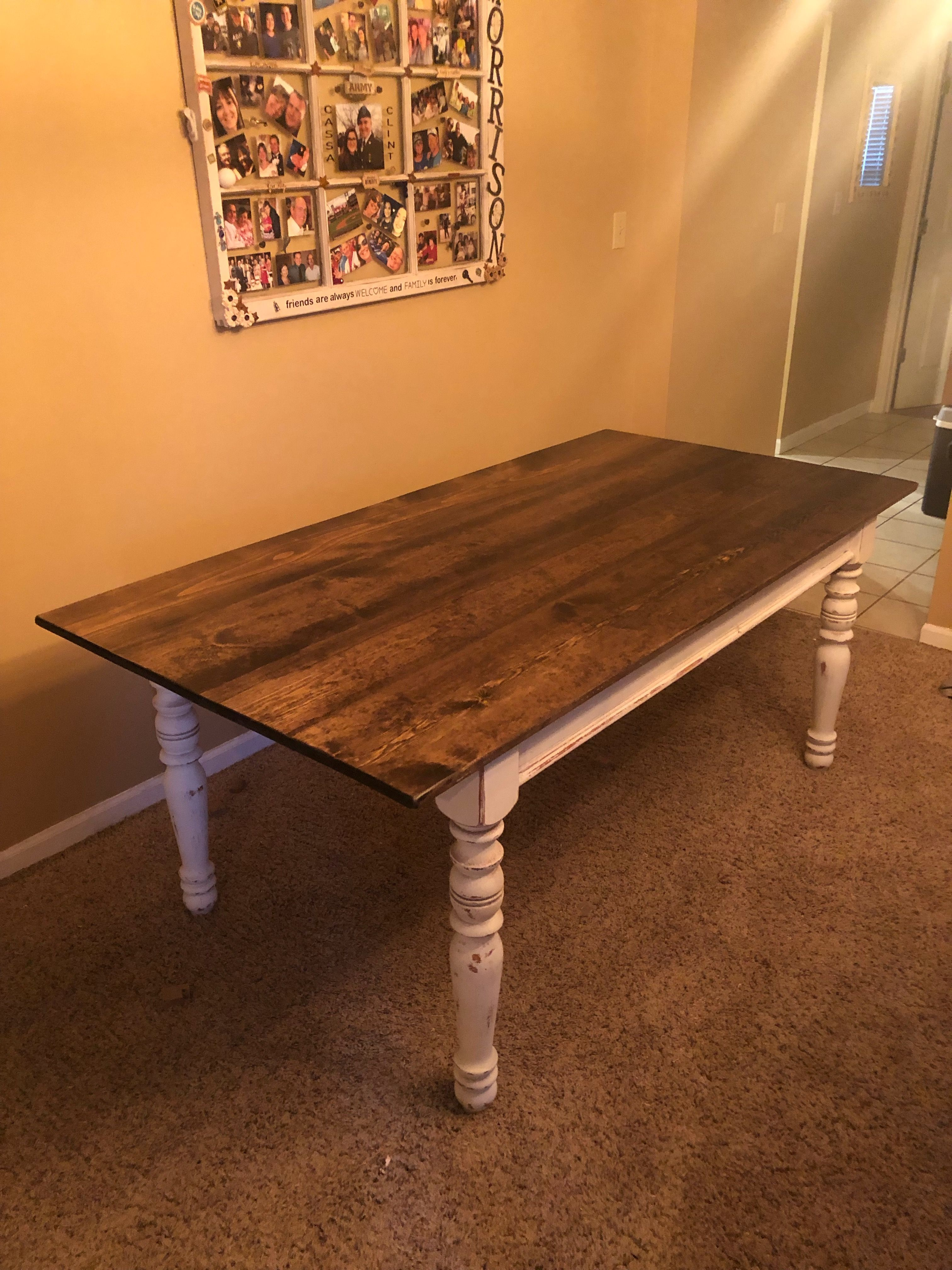 7 Foot Farm Table For Second Hand Chic Table Dining Table Decor
