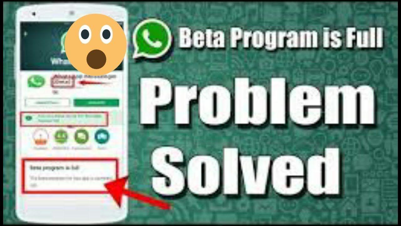 How To Fix WhatsApp Beta Tester Program Is Full | Hacker