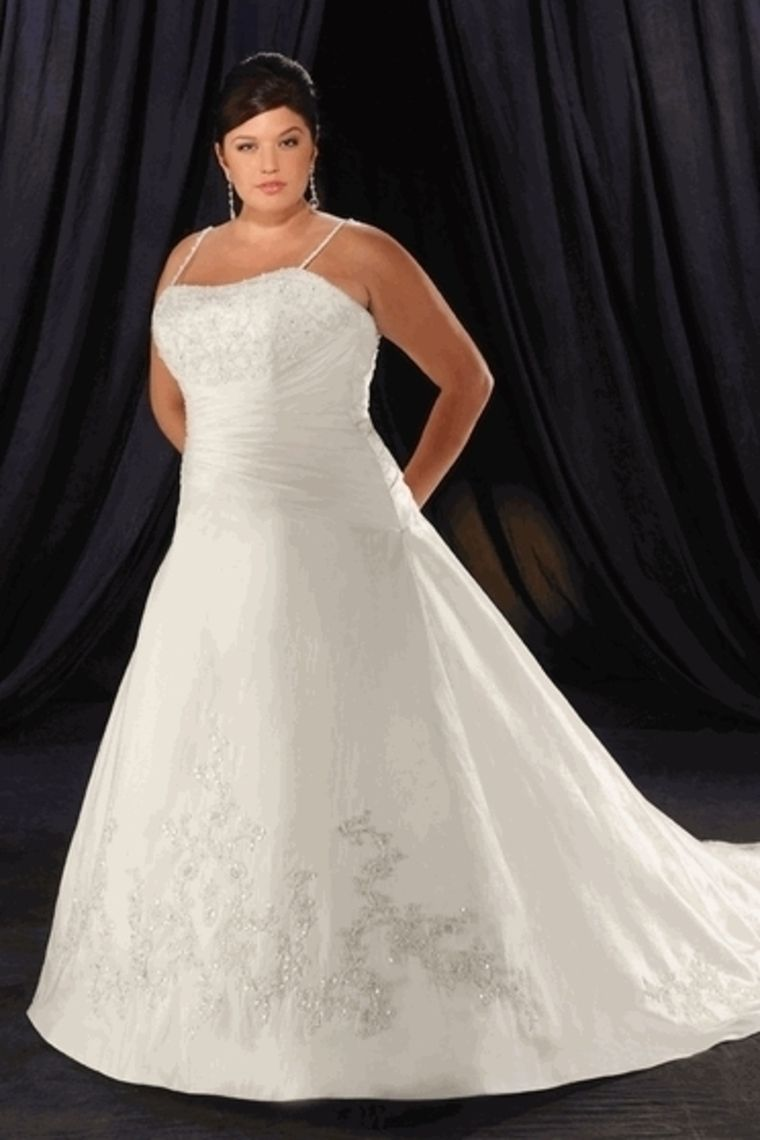 Wedding dresses with blue  New Arrival Plus Size Wedding Dresses A Line Spaghetti Straps