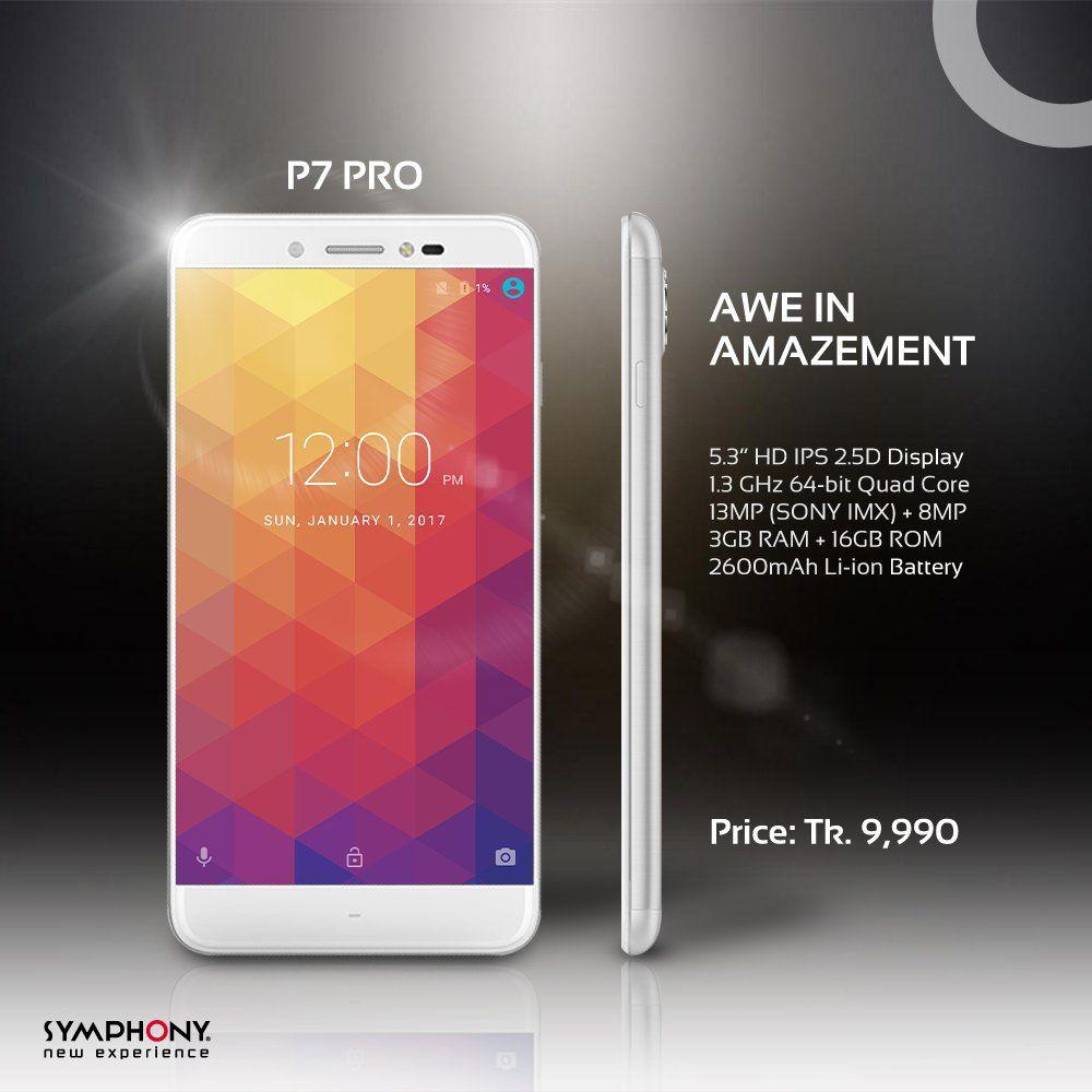 Symphony P7 Pro price, specifications, features, comparison