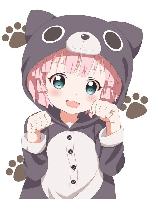 Adorable Anime Girl With Pink Hair And In A Cat Onesie Kawaii Desu