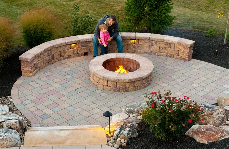 This simple fire pit is made out of the EP Henry Coventry ...
