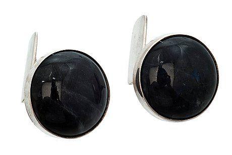 Erik Granit, 925 silver and spectrolite cufflinks, 1960-70's. #Finland