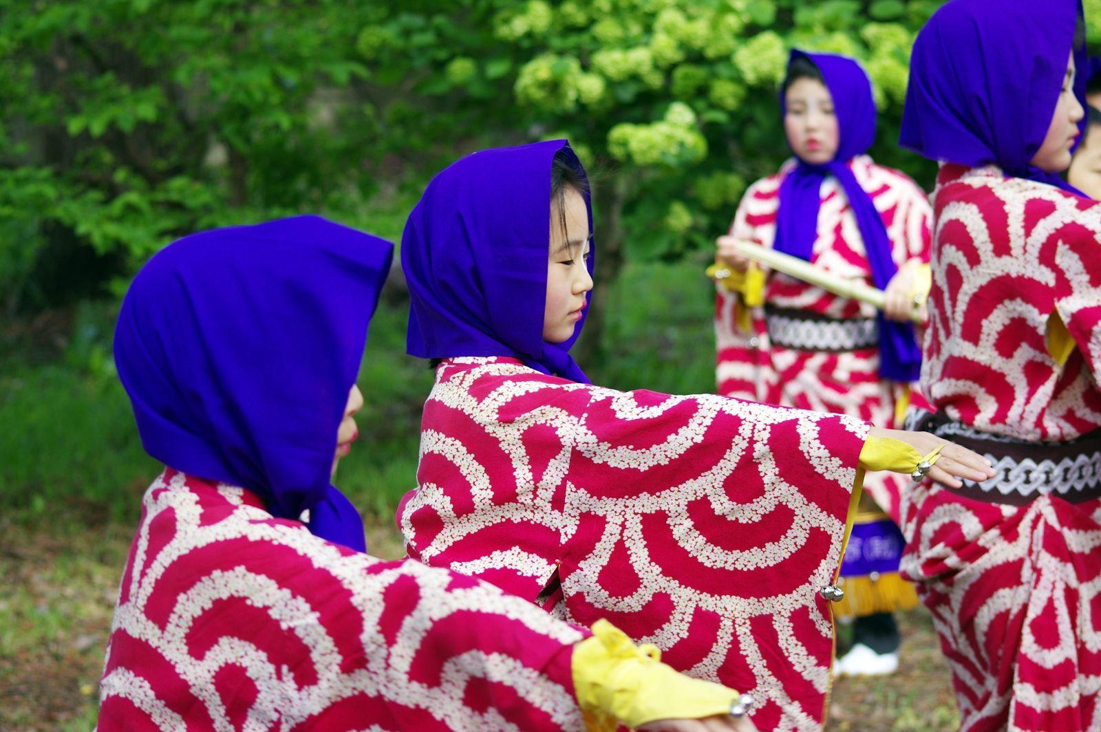 04 Akita Hachirogata town Child Gannin Dance 2015 2015年5月5日 八郎潟町 一日市神社 子供願人踊り
