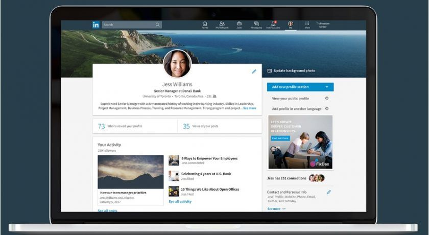 LinkedIn Continues to Update Its Desktop Experience Best