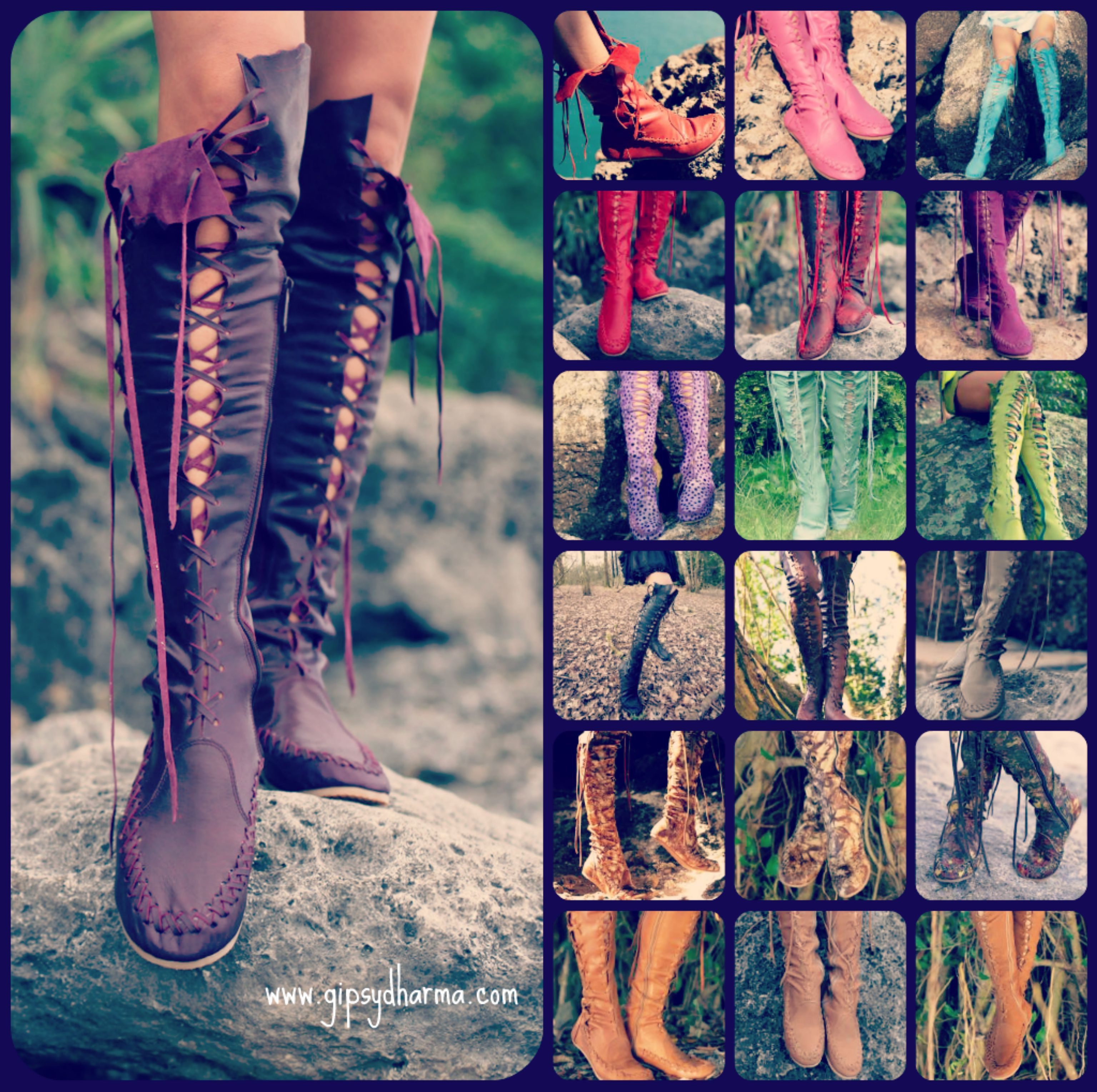 #gipsydharma #handmade #boots #leather #sexy #leatherboots #boho #bohemian #hippie #hippy #tribal #fashion  Feel better about yourself by transforming your image and find clothing or footwear that boost your confidence and makes you feel more positive. Gipsy Dharma have done just that by creating ladies boots and other leather clothing that helps women all over to feel better about themselves and look fabulous.