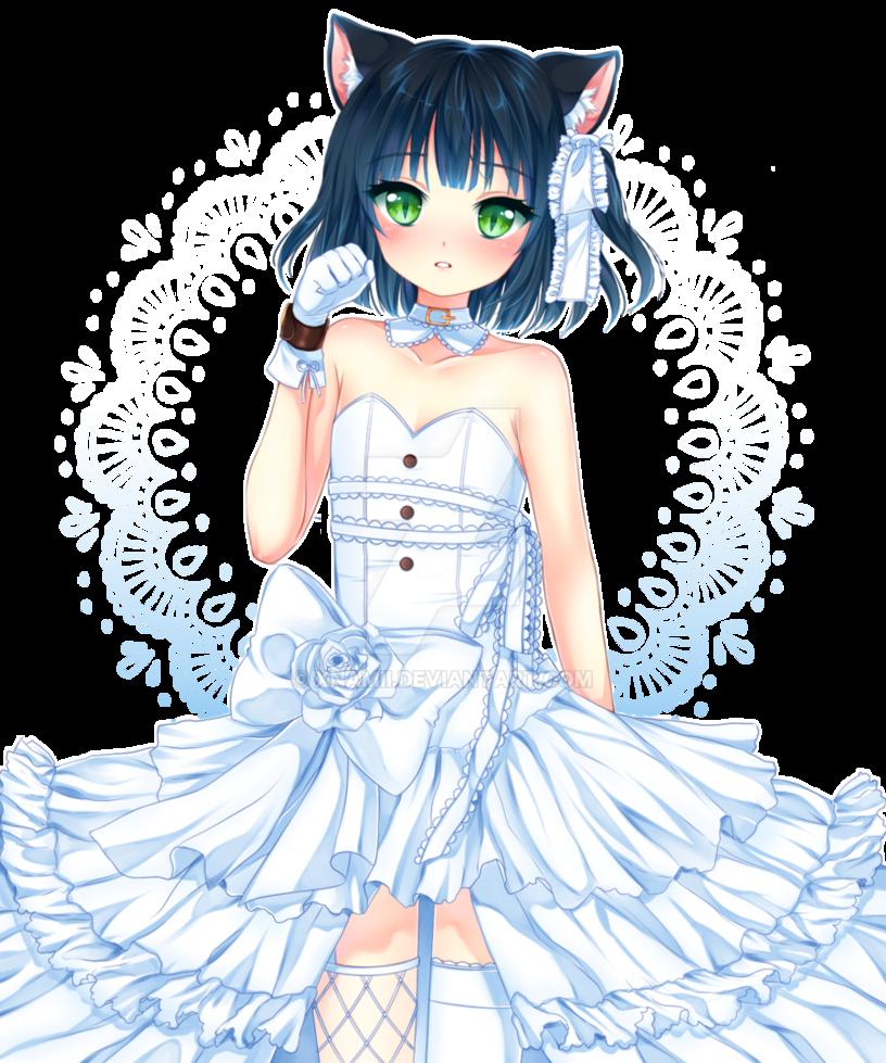 Magnifique fille manga en robe manga fille manga - Fille en manga ...
