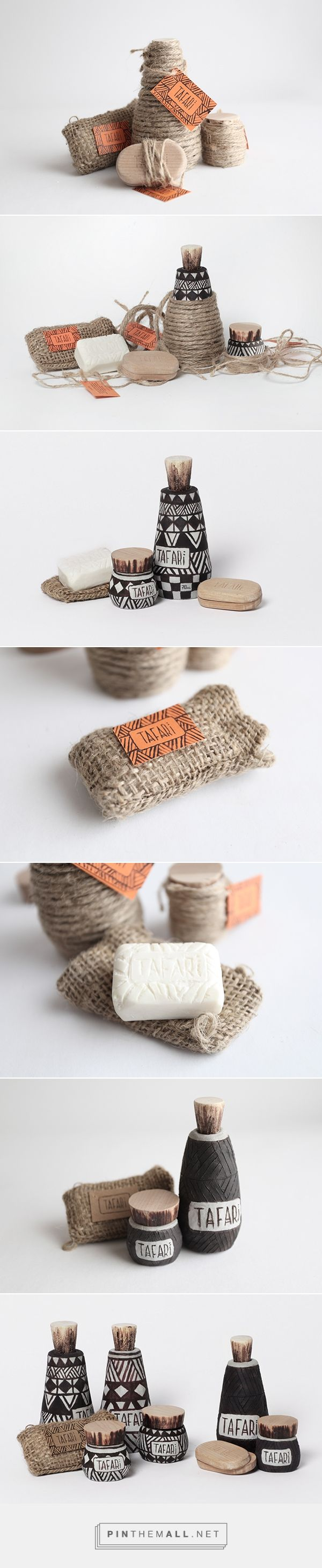 handmade packaging #handmade TAFARI on Behance by Yulia Popova curated by Packaging Diva PD. I just love this handmade packaging design idea.