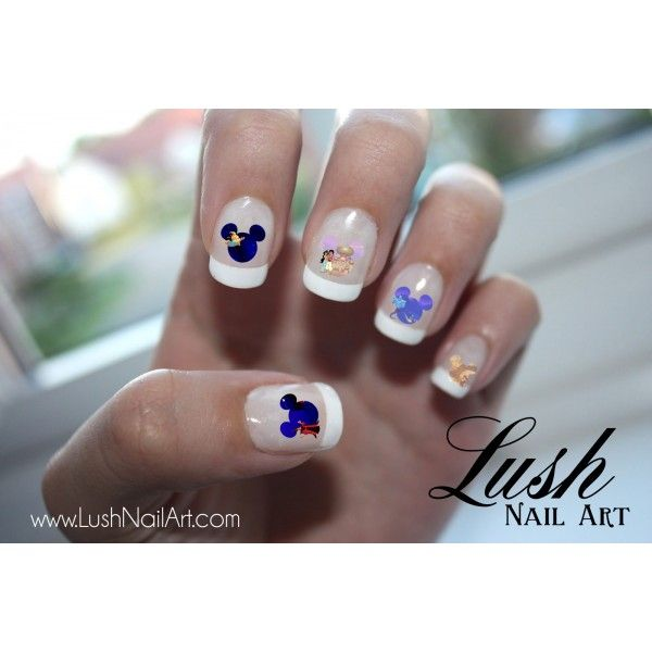 Aladdin & Jasmine Mickey Mouse Ears Disney Nail Art Water Transfer Decal