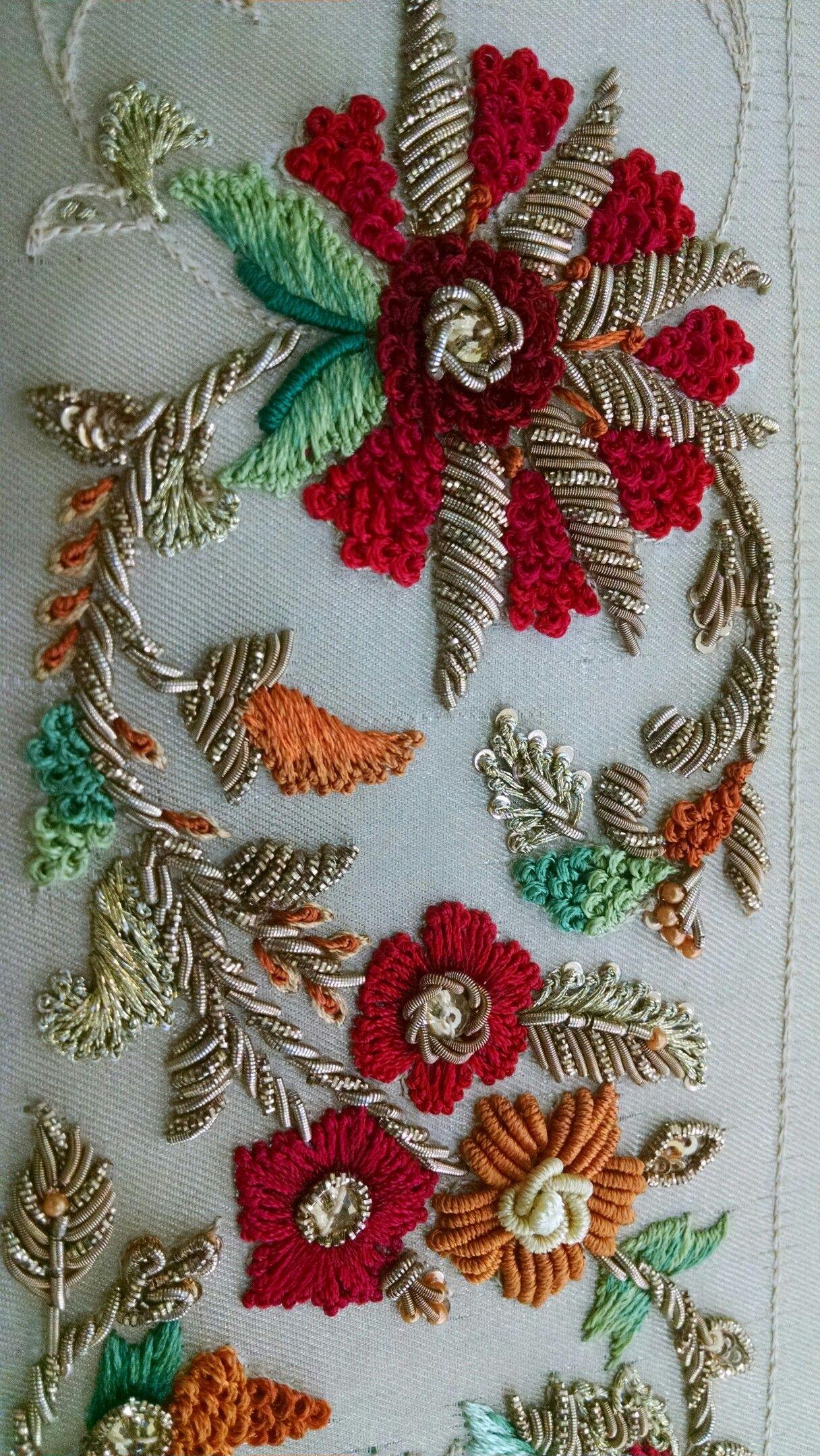 Zardozi work karigari pinterest embroidery hand