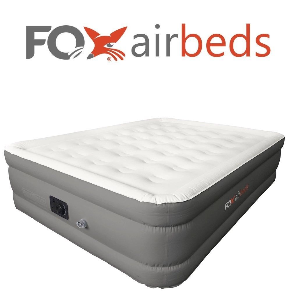 Inflatable Air Mattress Bed Plush High Rise Built In Pump Airbeds King Size New Foxairbeds Air Mattress Camping Best Inflatable Bed Air Mattress
