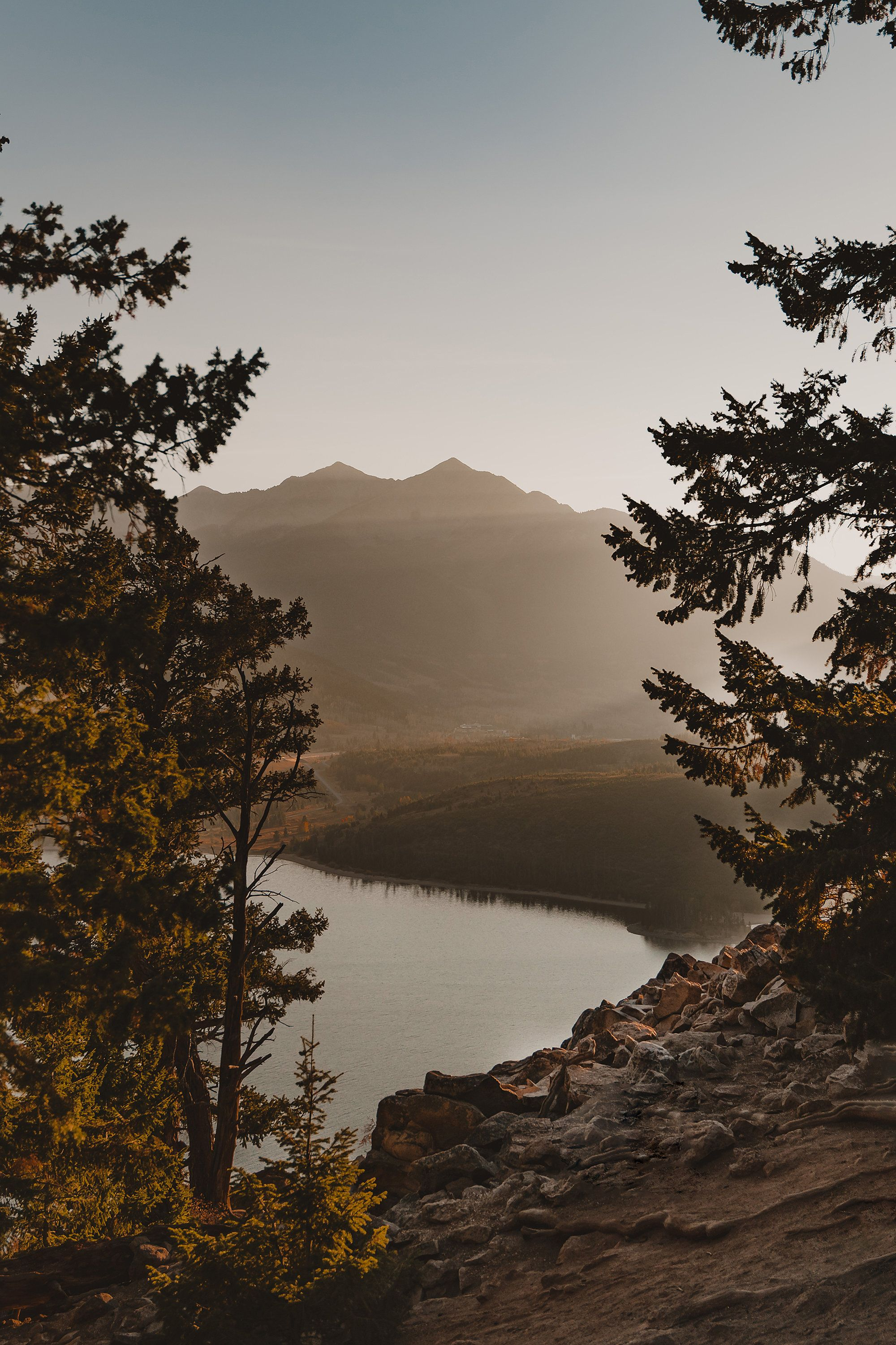 Read the full title Sapphire Point Overlook, Travel Photography, Lake Dillon, Colorado Mountains, Digital Print, Nature Sunset Photo