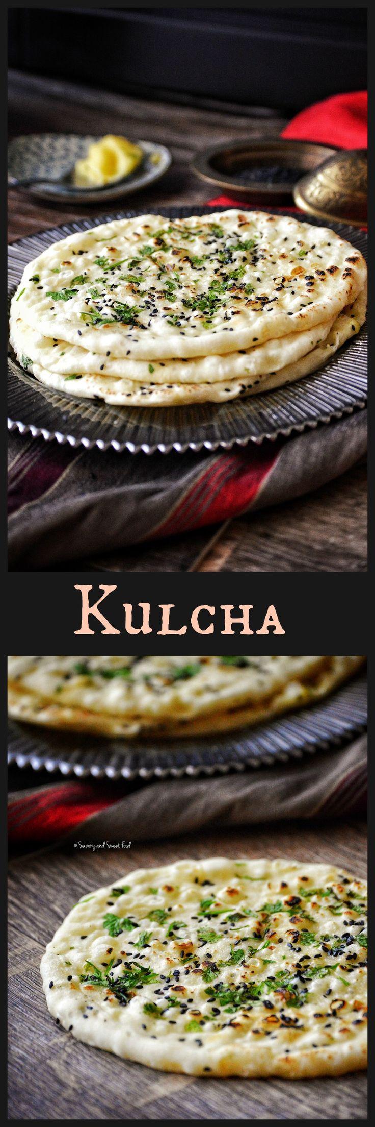 Kulcha/ Indian Flat Bread | Indian food recipes, Indian ...