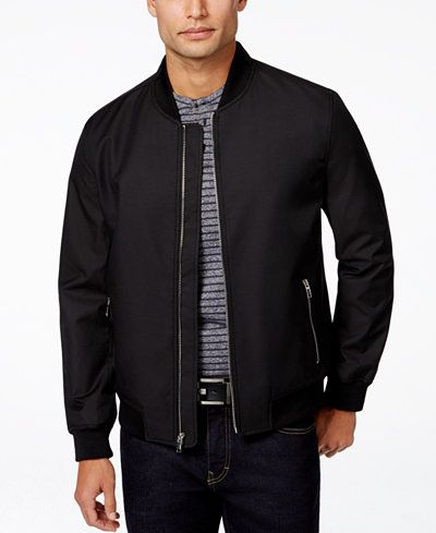 ff5bbb19b Men's Ribbed Bomber Jacket, Created for Macy's | I need a damn ...