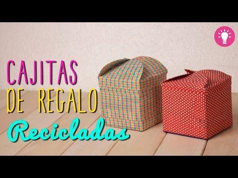 Como hacer cajas de regalo originales cajitas recicladas for Como hacer cajas de carton para regalo