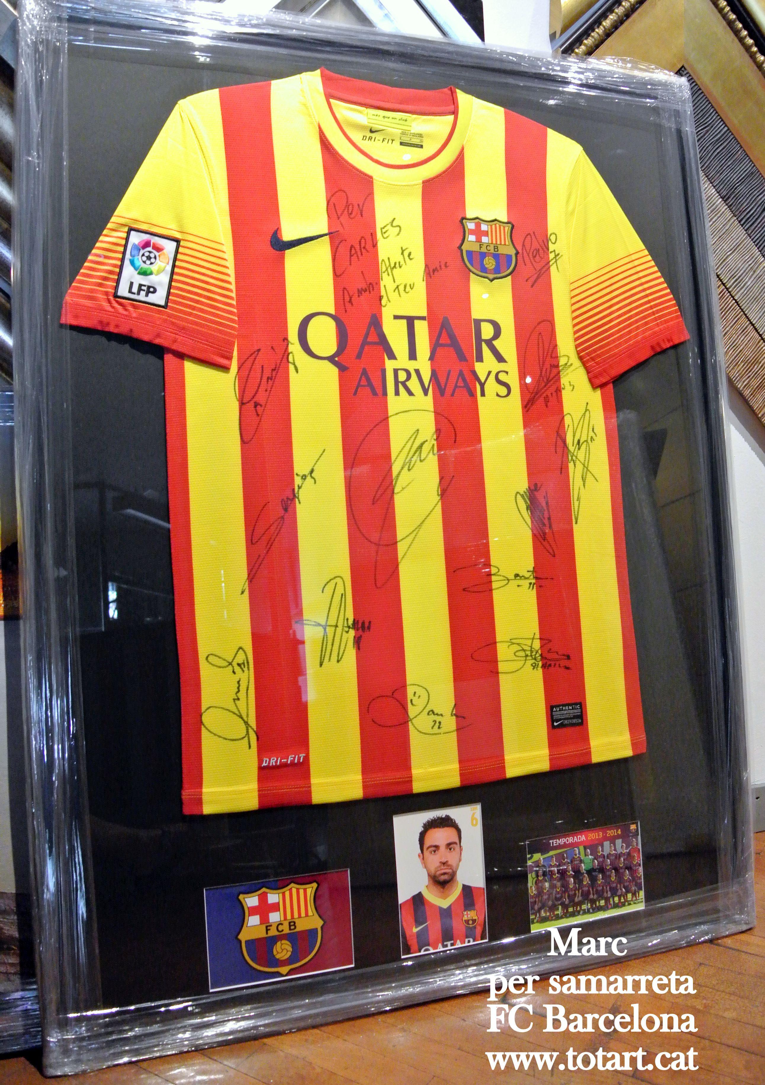 marco para camiseta de futbol del Futbol Club Barcelona totart.cat ...