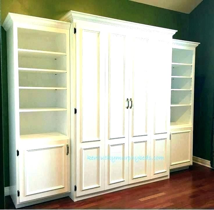 bookcase murphy bed revolving bookcase bed sliding white